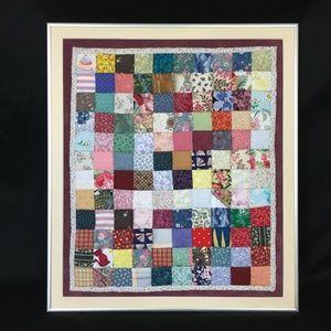 """Framed Quilt Patchwork Sampler 21x18"""" Squares"""